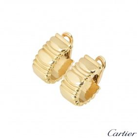 Cartier 18k Yellow Gold Baignoire Earrings